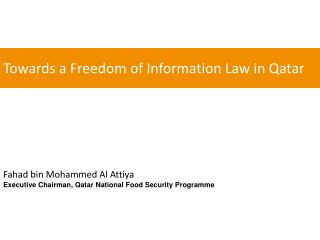 Towards a Freedom  of  Information Law in Qatar