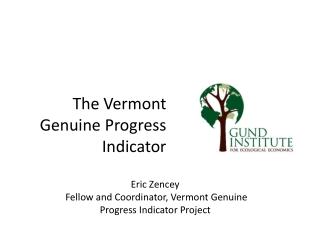 The Vermont Genuine Progress Indicator