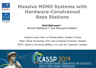 Massive MIMO Systems with Hardware-Constrained  Base  Stations