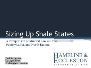 Sizing Up Shale States