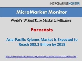 Asia-Pacific Xylenes Market Is Expected to Reach $83.2 Billi