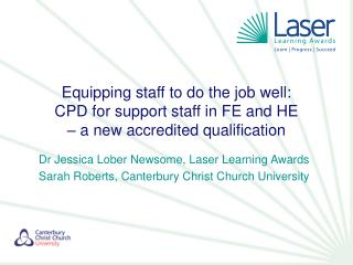 Equipping staff to do the job well:  CPD for support staff in FE and HE  – a new accredited qualification