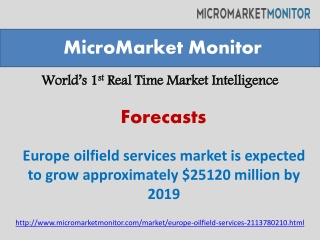 Europe oilfield services market is expected to grow approxim