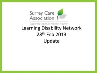 Learning Disability Network 28 th  Feb 2013 Update