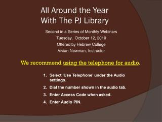 All Around the Year With The PJ Library