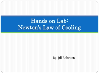 Hands on Lab :  Newton's  Law of  Cooling