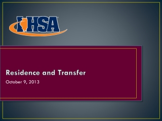 Residence and Transfer