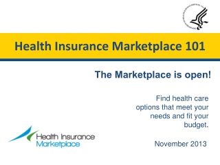 Health Insurance Marketplace 101