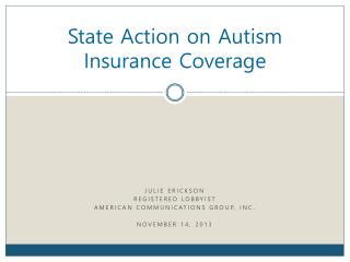 State Action on Autism Insurance Coverage