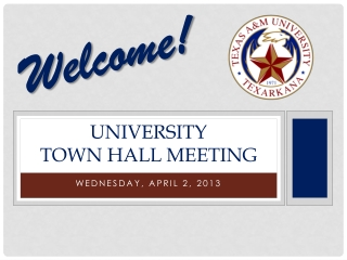 University  Town Hall Meeting