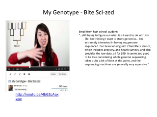 My Genotype - Bite Sci-zed