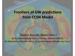 Frontiers of GW predictions  from CCSN Model