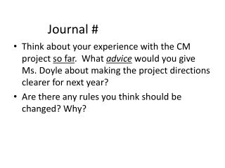 Journal #