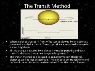 The Transit Method