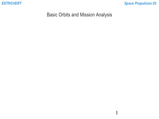 Basic Orbits and Mission Analysis
