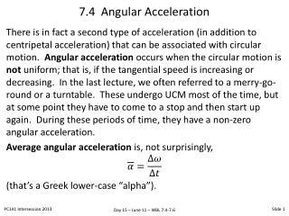 7.4  Angular Acceleration