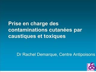 prise en charge des contaminations cutan
