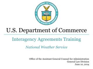 Interagency Agreements Training