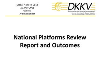 National Platforms Review Report and Outcomes