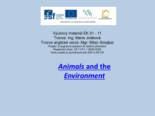 animals and the environment
