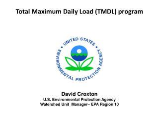 Total Maximum Daily Load (TMDL) program