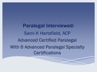 Paralegal Interviewed: