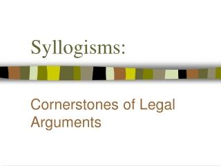 Syllogisms: