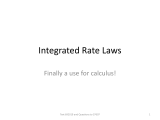 Integrated Rate Laws
