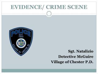 EVIDENCE/ CRIME SCENE