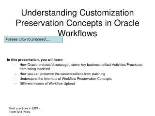 understanding customization preservation concepts in oracle workflows