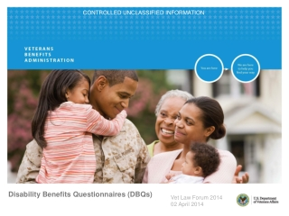Disability Benefits Questionnaires (DBQs)