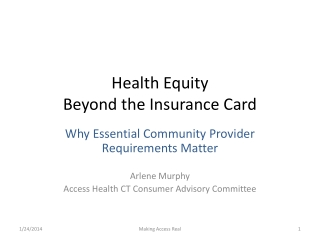 Health Equity  Beyond the Insurance Card