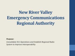 New River Valley Emergency Communications Regional Authority