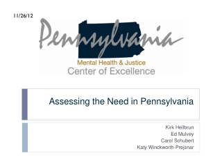 Assessing the Need in Pennsylvania