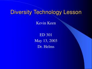 diversity technology lesson