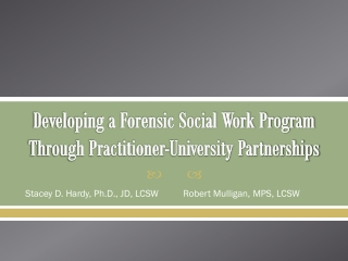 Developing a Forensic Social Work Program Through Practitioner-University Partnerships