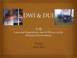 DWI & DUI