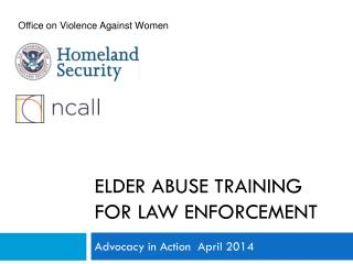 Elder Abuse Training  for Law Enforcement