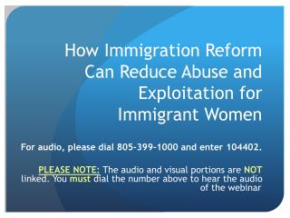How Immigration Reform Can Reduce Abuse and Exploitation for Immigrant Women