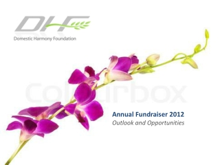 Annual Fundraiser  2012 Outlook and  Opportunities
