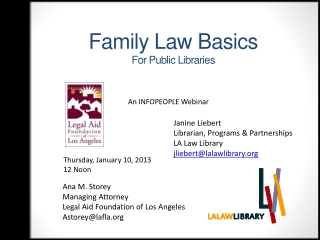Family Law Basics For  Public Libraries