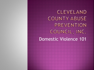 Cleveland County Abuse Prevention Council, INC.