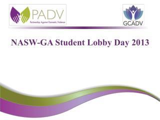 NASW-GA Student Lobby Day 2013
