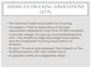 AMERICAN TRUCKING  ASSOCIATIONS  (ATA )