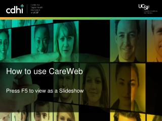 How to use  CareWeb