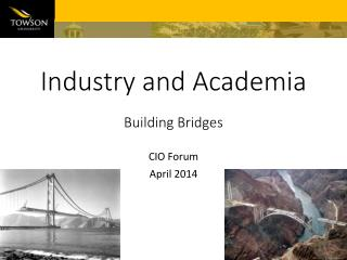 Industry and Academia Building Bridges