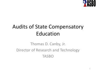 Audits of State Compensatory Education