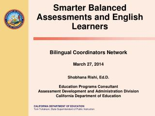 Smarter Balanced Assessments and English Learners