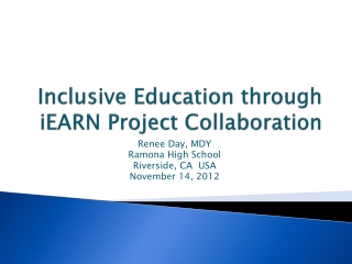 Inclusive Education through iEARN Project Collaboration