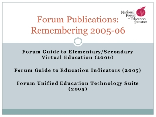 Forum Publications: Remembering 2005-06